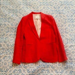 Joie Women's Linen Blazer in Poppy / Size 4